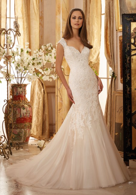 Crystal Beaded, Alençon Lace Appliqués on Soft Net Morilee Bridal Wedding Dress.jpg_1